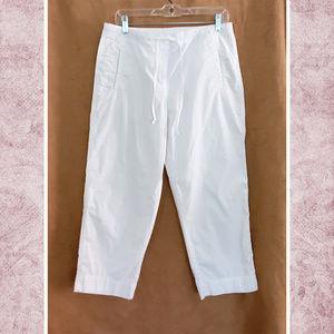 Talbots Draw Waist Cotton Crop Pant
